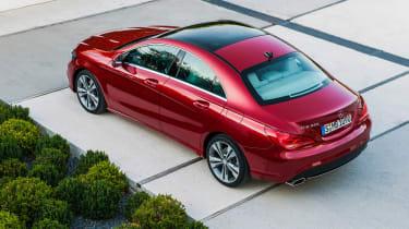 Mercedes-Benz CLA red