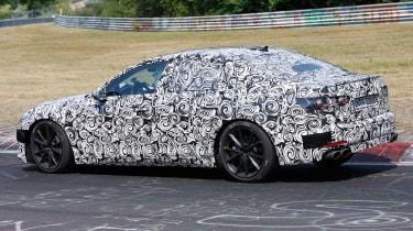 2018 Audi S6 spied - rear 3/4
