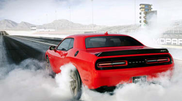 Dodge Challenger SRT Hellcat burnout