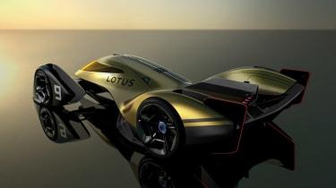 Lotus E-R9 rear quarter