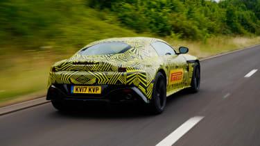 New 2018 Aston Martin Vantage spy shots rear