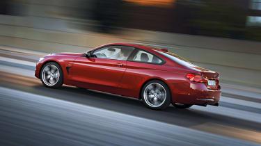 BMW 435i red side profile