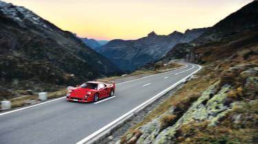 Ferrari F40 across the Alps: INSIDE evo video