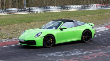 Porsche 911 Targa spy - front quarter