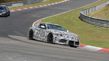 Toyota Supra spy shots - front three quarter
