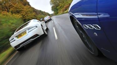 evo January 2013 Maserati GranTurismo Sport vs Aston Martin DB9