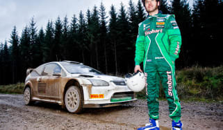 Isle of Man TT rider Guy Martin drives Ford Focus WRC car