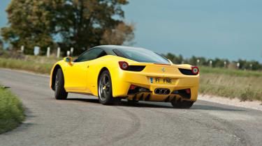 Ferrari 458 Italia sideways