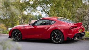 Toyota GR Supra review red DE - side