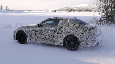 2022 BMW M2 spied rear quater