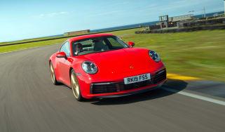 Porsche 911 Carrera S track front angle