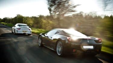 Porsche 911 GT3 RS v Ferrari 458 Italia