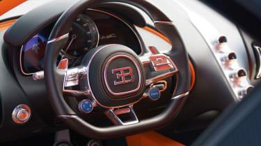Bugatti Chiron black - steering wheel