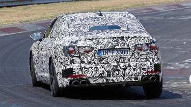 2018 Audi S6 spied - rear