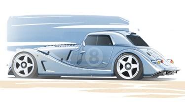 Morgan Plus 8 GTR rear