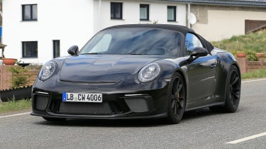 Porsche 911 Speedster spy - front quarter