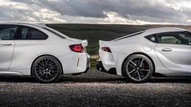 BMW M2 Competition vs Toyota GR Supra - static