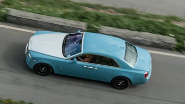 2014 Rolls-Royce Ghost Alpine Trial Centenary Collection blue silver bonnet