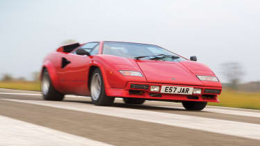Lamborghini Countach QV road trip videos