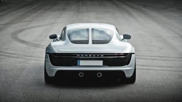 Porsche unseen mid-engined concept - rear1