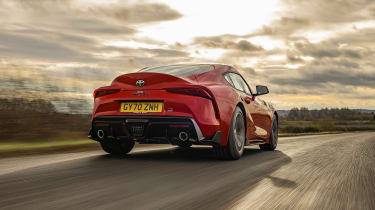 Toyota Supra 2.0 review - rear tracking