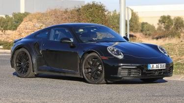Porsche 911 Turbo spy 2017 - front quarter