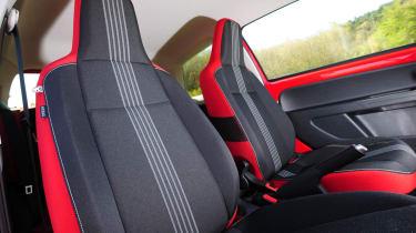 Skoda Citigo Sport red and black seats