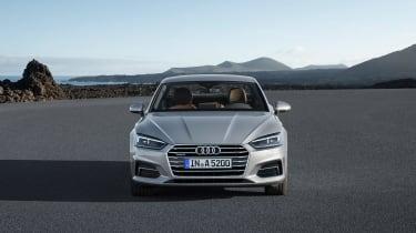 Audi A5 coupe silver - studio rear
