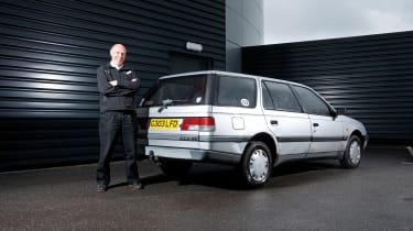 Attwood and his Peugeot 405