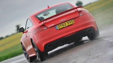 2013 Audi TT RS Plus red rear