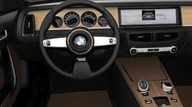 BMW CS Vintage Concept interior steering wheel