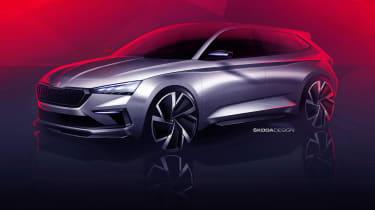 Skoda Vision RS concept sketch - front