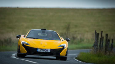 McLaren P1 yellow DS - nose