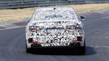 2018 Audi S6 spied - rear 2