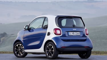 New Smart Fortwo blue rear