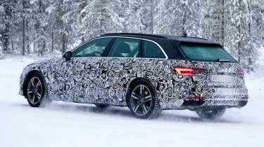 New Audi A4 spied rear