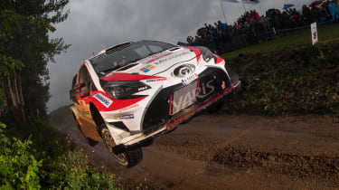 Toyota driver Jari Matti Latvala was in the hunt for a podium spot but struggled with a clutch issue on day two.