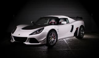 Lotus Exige 380 70th Edition – Monaco White - front quarter