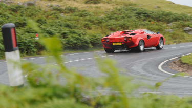 Lamborghini V12 group test Wales - slide