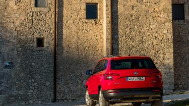 Skoda Karoq (red) - rear