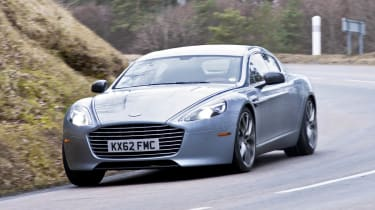 Aston Martin Rapide S silver front view