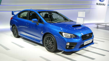 Subaru WRX STI 2014: Mica blue front