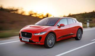 Jaguar I-Pace driving - front quarter