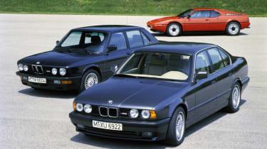 BMW M1, BMW M5 (E28), BMW M5 (E34)