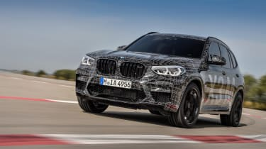 BMW X3 M and X4 M prototypes - front quarter
