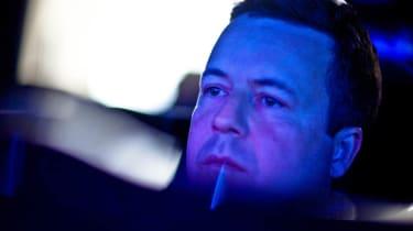 Richard Meaden drives virtual F1 car