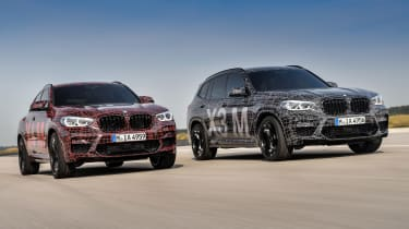 BMW X3 M and X4 M prototypes - front tracking