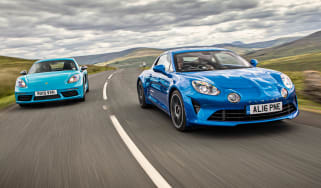 Porsche 718 Cayman T and Alpine A110