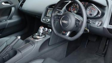 Audi R8 V8 coupe interior dashboard