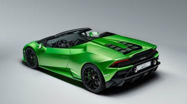 Lamborghini Huracan Evo Spyder - rear quarter